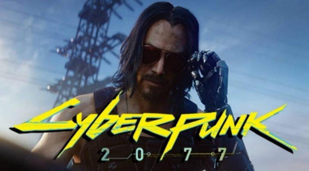 Cyberpunk 2077 la locandina che mostra la collaborazione con Keanu Reeves