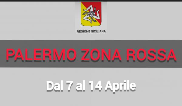 Covid, Palermo zona rossa dal 7 al 14 aprile