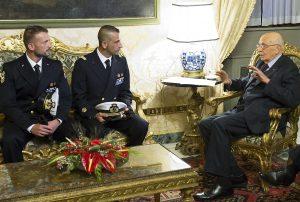 Incontro Marò Napolitano